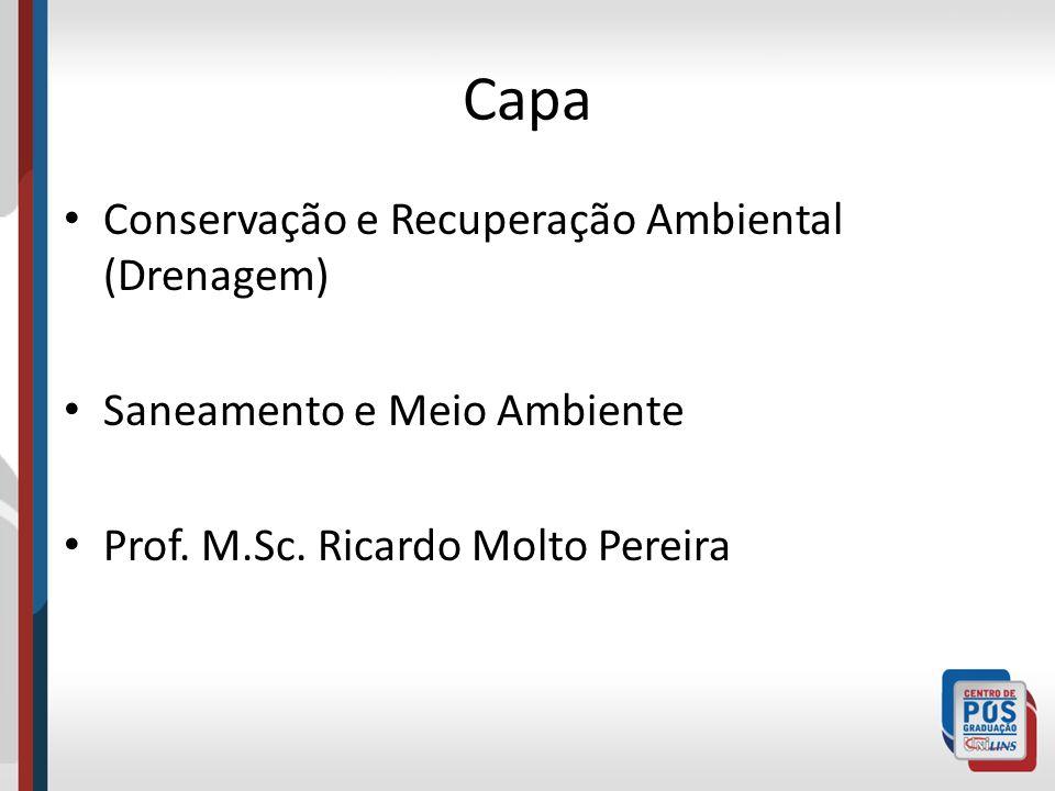 Capa Conservação e Recuperação Ambiental (Drenagem)