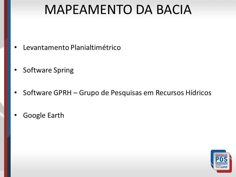 MAPEAMENTO DA BACIA Levantamento Planialtimétrico Software Spring