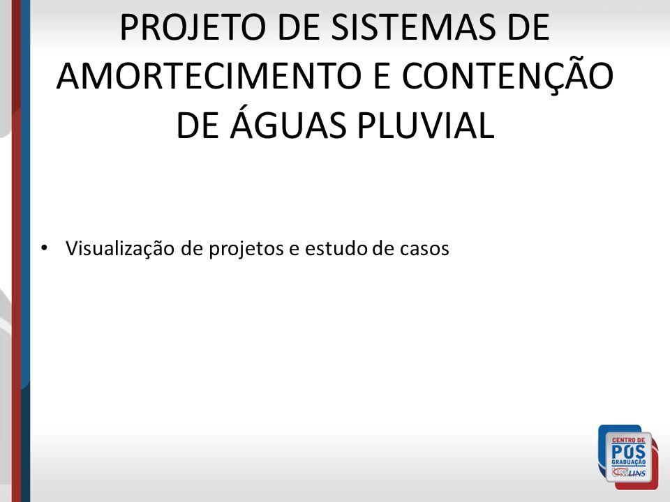 PROJETO DE SISTEMAS DE AMORTECIMENTO E CONTENÇÃO DE ÁGUAS PLUVIAL