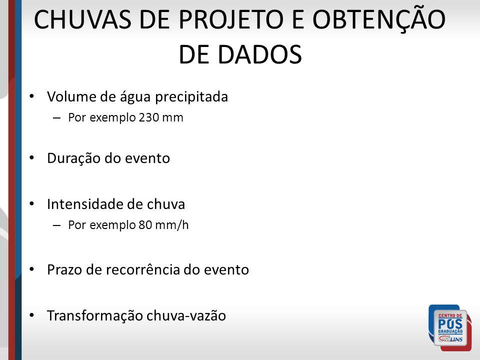 CHUVAS DE PROJETO E OBTENÇÃO DE DADOS