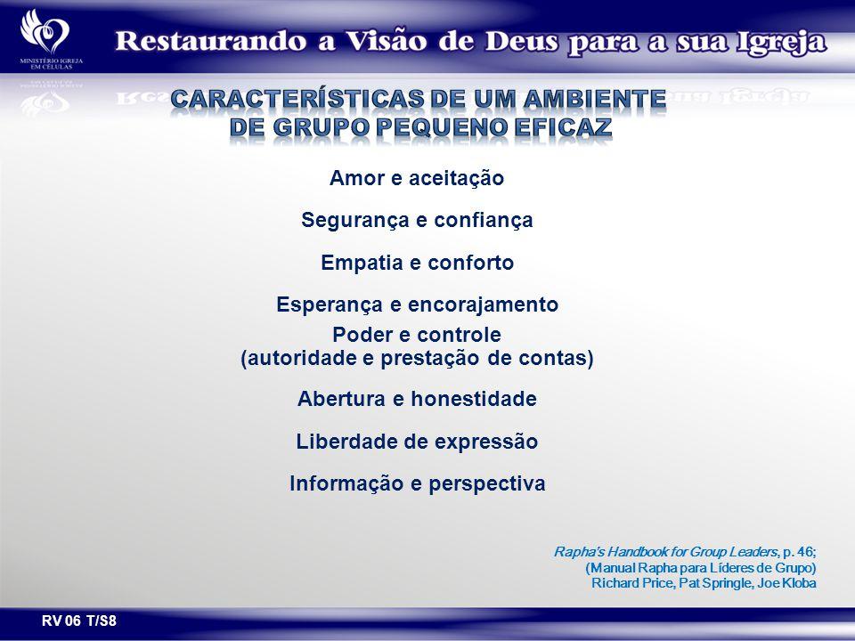 Características de um ambiente de grupo pequeno eficaz
