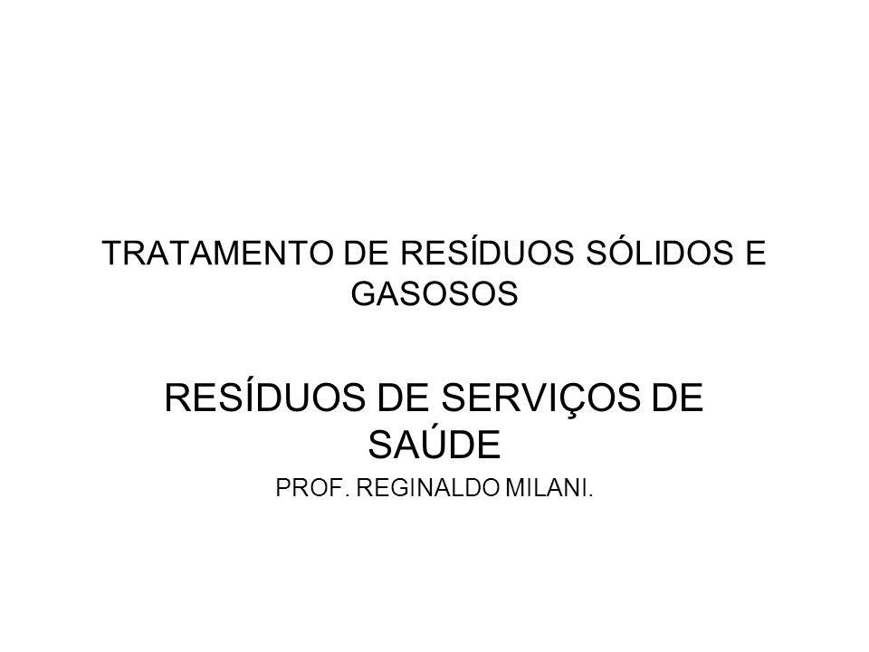 TRATAMENTO DE RESÍDUOS SÓLIDOS E GASOSOS