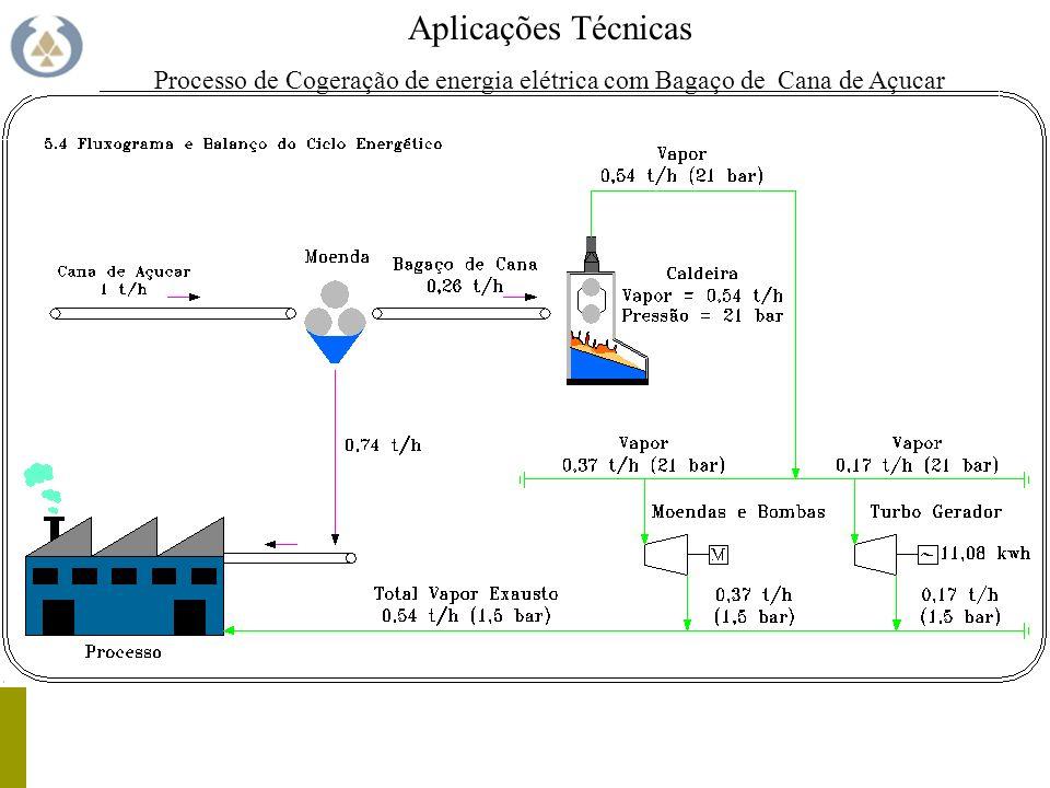 Processo de Cogeração de energia elétrica com Bagaço de Cana de Açucar