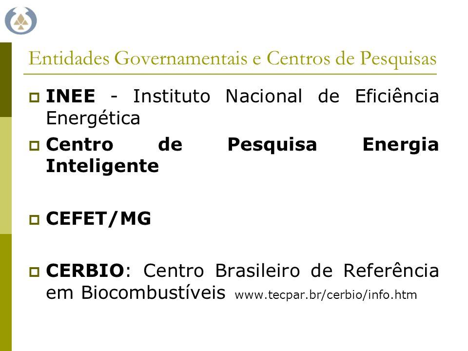 Entidades Governamentais e Centros de Pesquisas