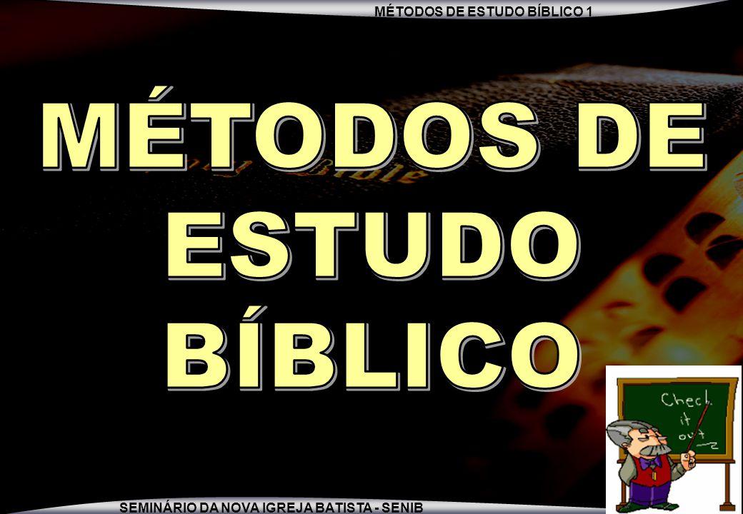 MÉTODOS DE ESTUDO BÍBLICO
