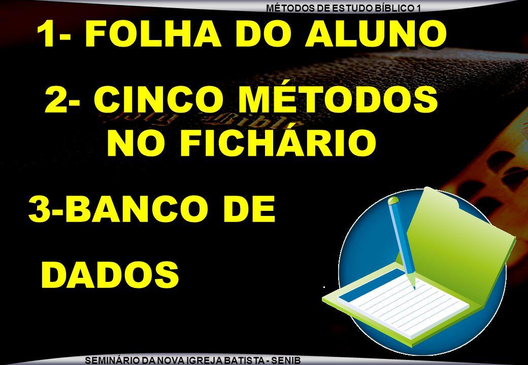 2- CINCO MÉTODOS NO FICHÁRIO