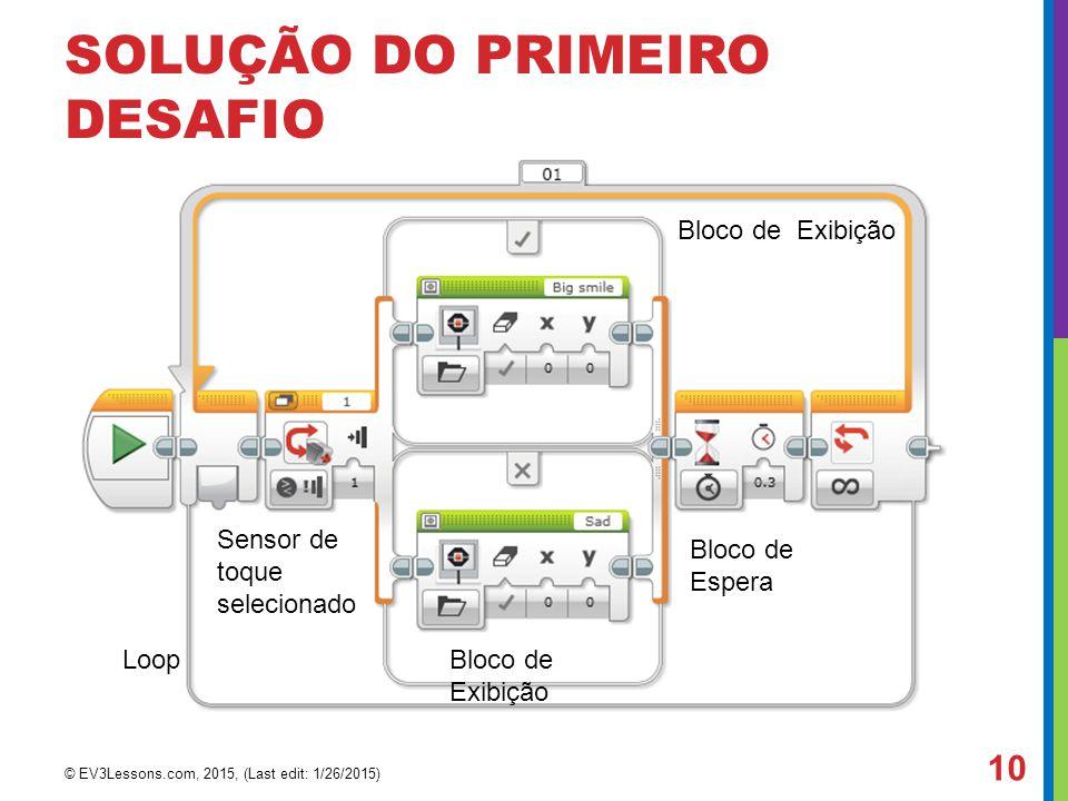 SOLUÇÃO DO PRIMEIRO DESAFIO