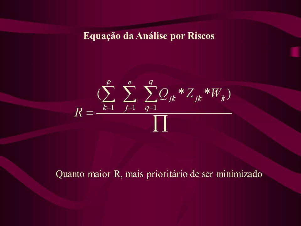 Equação da Análise por Riscos