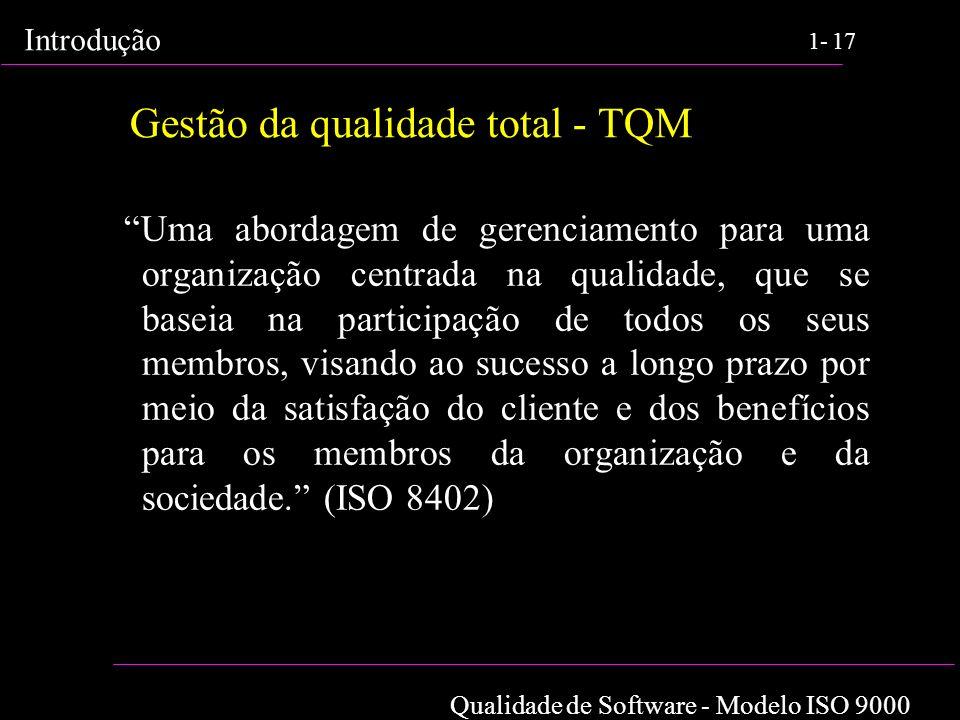 Gestão da qualidade total - TQM