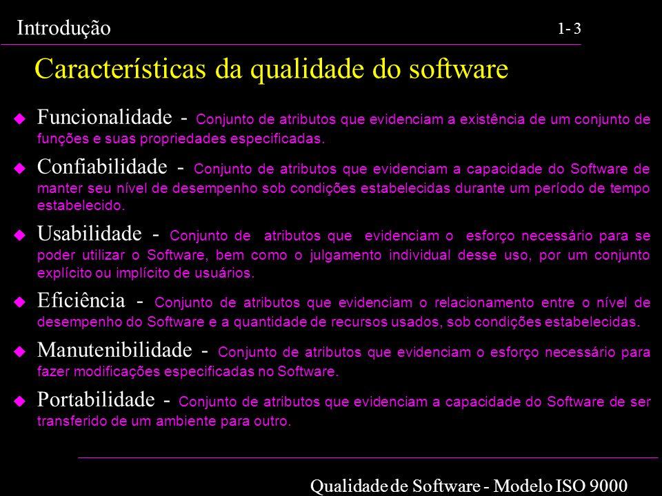 Características da qualidade do software