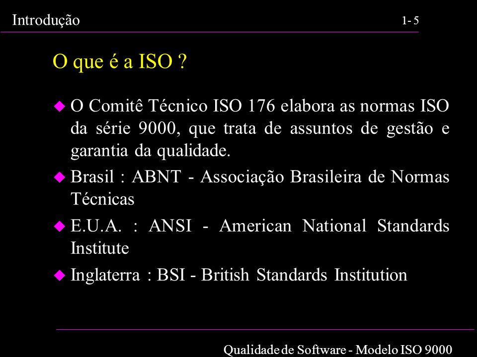 O que é a ISO O Comitê Técnico ISO 176 elabora as normas ISO da série 9000, que trata de assuntos de gestão e garantia da qualidade.