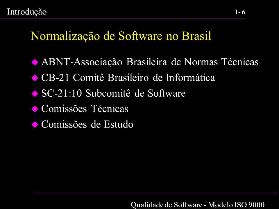 Normalização de Software no Brasil
