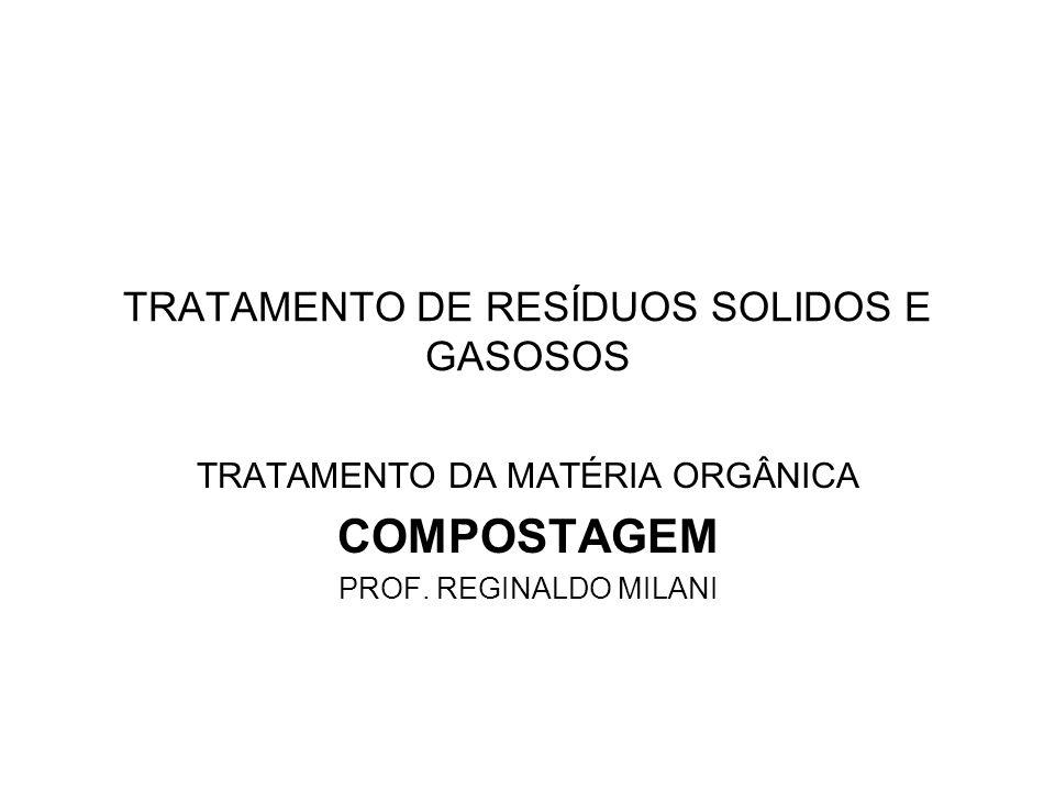 TRATAMENTO DE RESÍDUOS SOLIDOS E GASOSOS