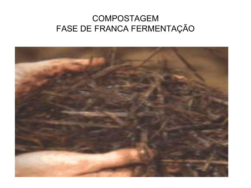COMPOSTAGEM FASE DE FRANCA FERMENTAÇÃO