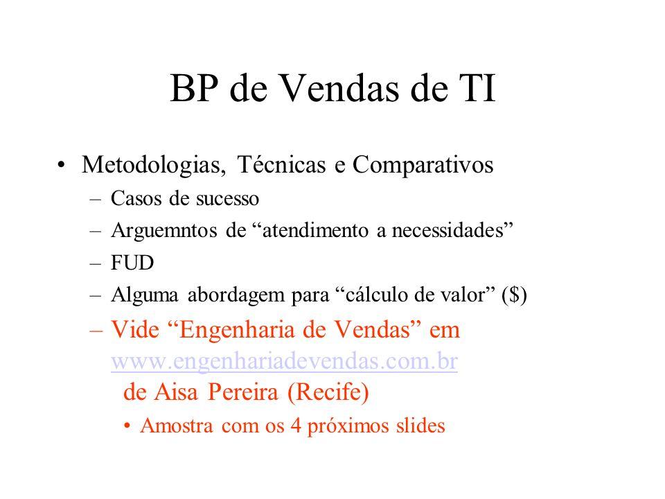 BP de Vendas de TI Metodologias, Técnicas e Comparativos