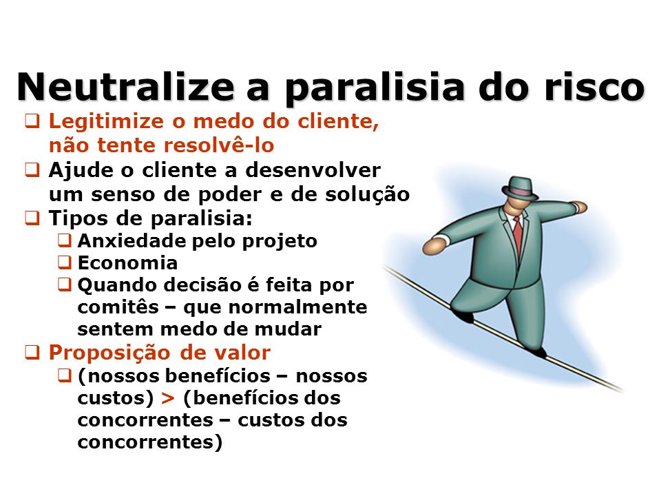 Neutralize a paralisia do risco