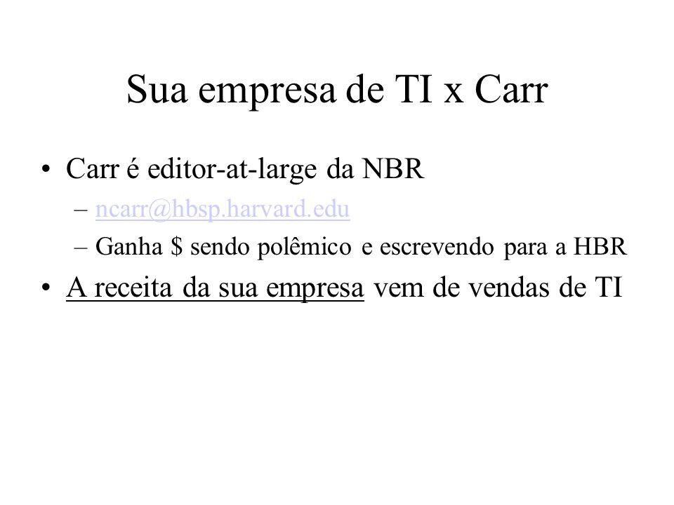 Sua empresa de TI x Carr Carr é editor-at-large da NBR
