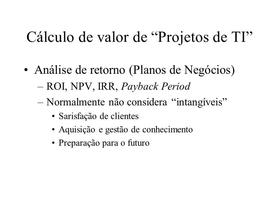 Cálculo de valor de Projetos de TI