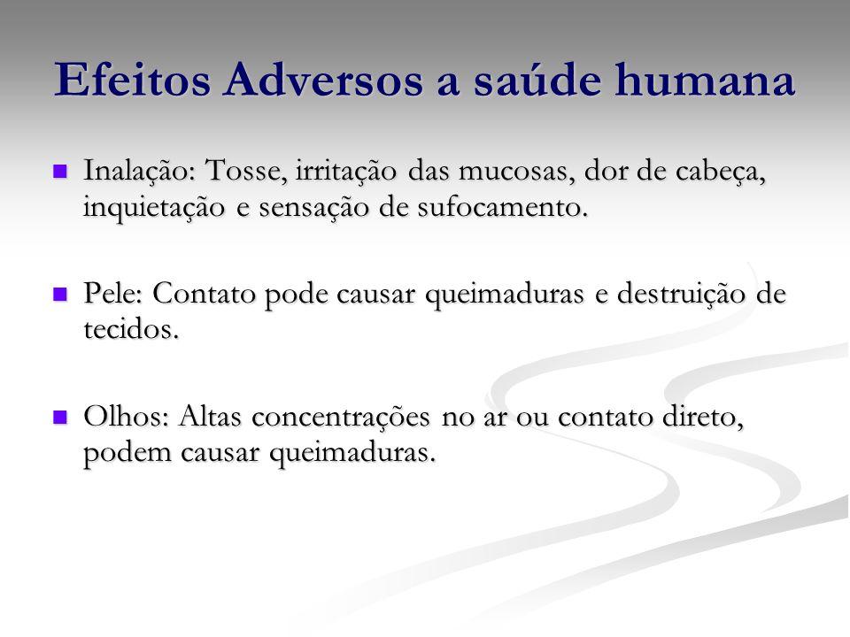Efeitos Adversos a saúde humana