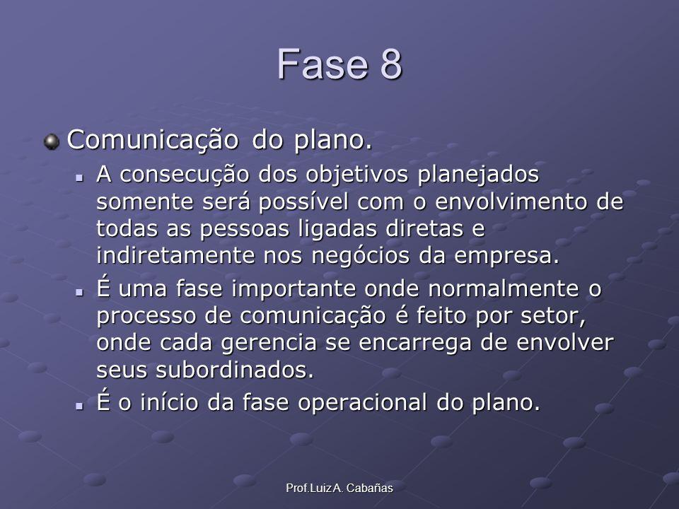 Fase 8 Comunicação do plano.