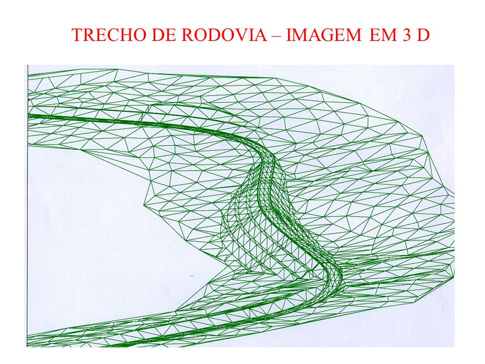 TRECHO DE RODOVIA – IMAGEM EM 3 D
