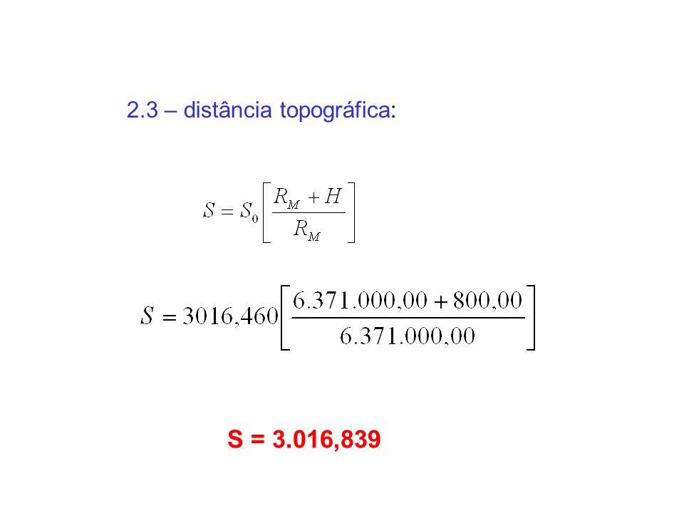 2.3 – distância topográfica: