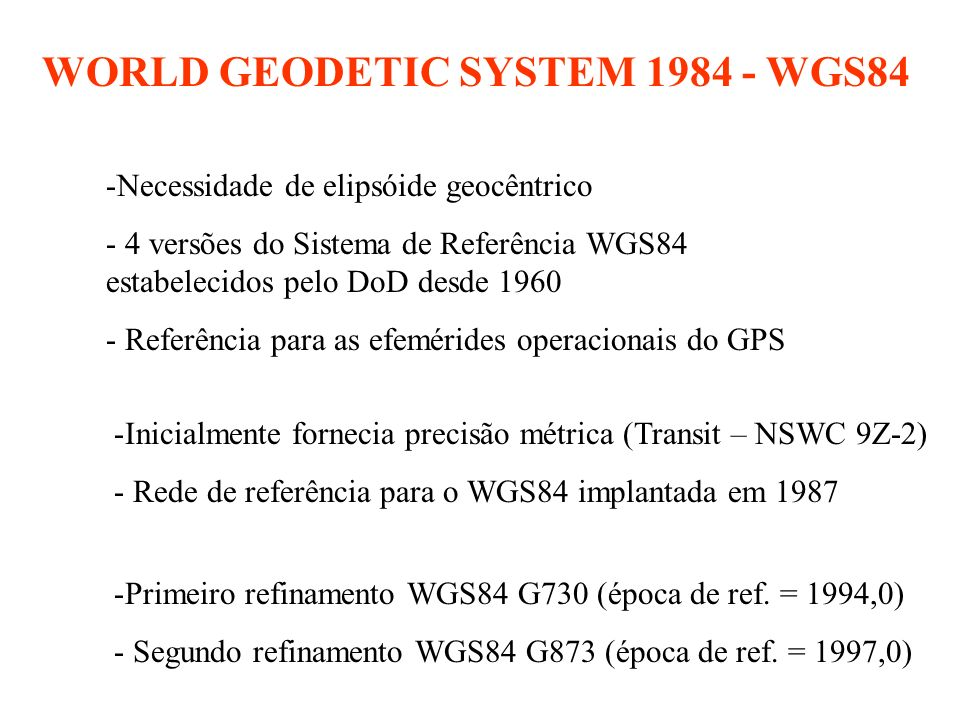 WORLD GEODETIC SYSTEM 1984 - WGS84