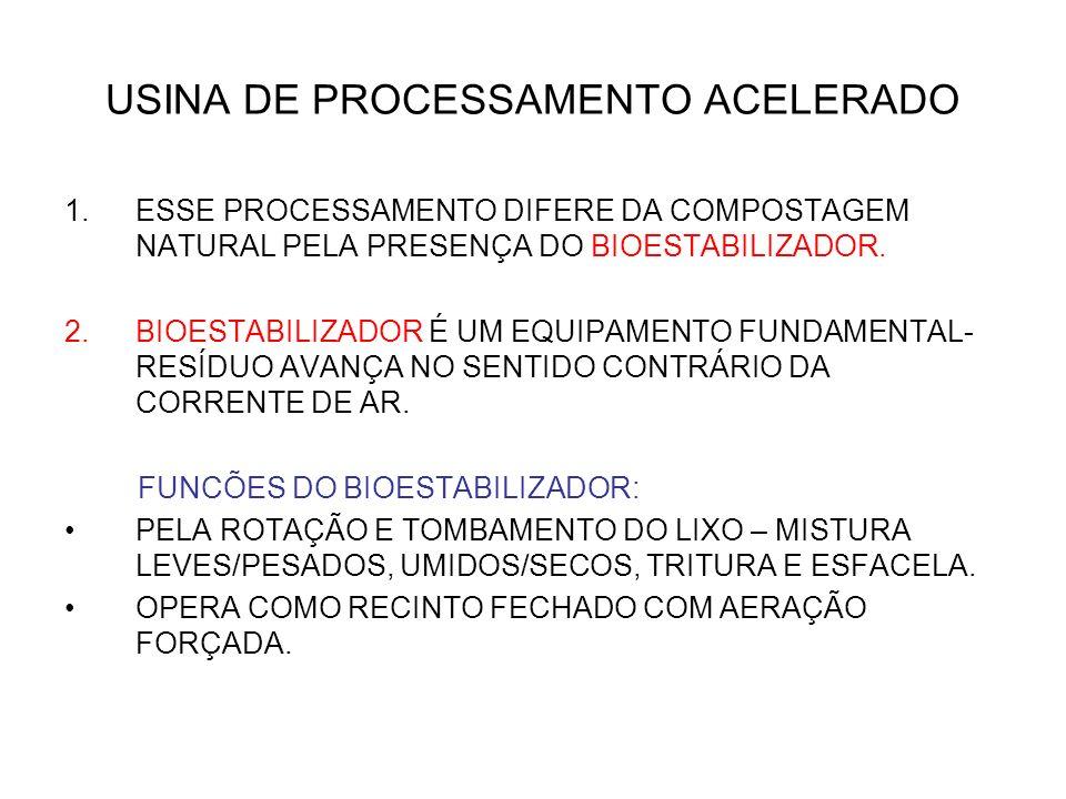 USINA DE PROCESSAMENTO ACELERADO