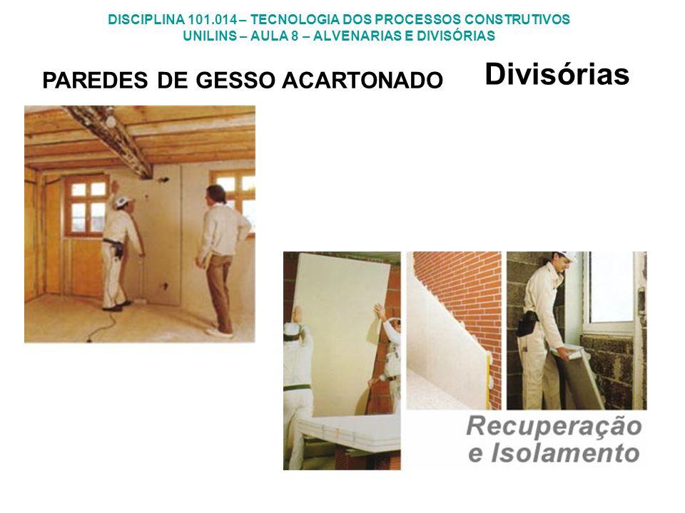 Divisórias PAREDES DE GESSO ACARTONADO