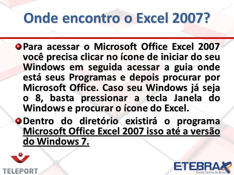 Onde encontro o Excel 2007