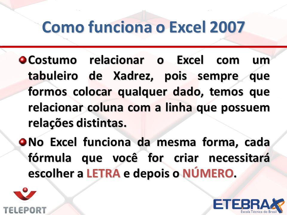 Como funciona o Excel 2007