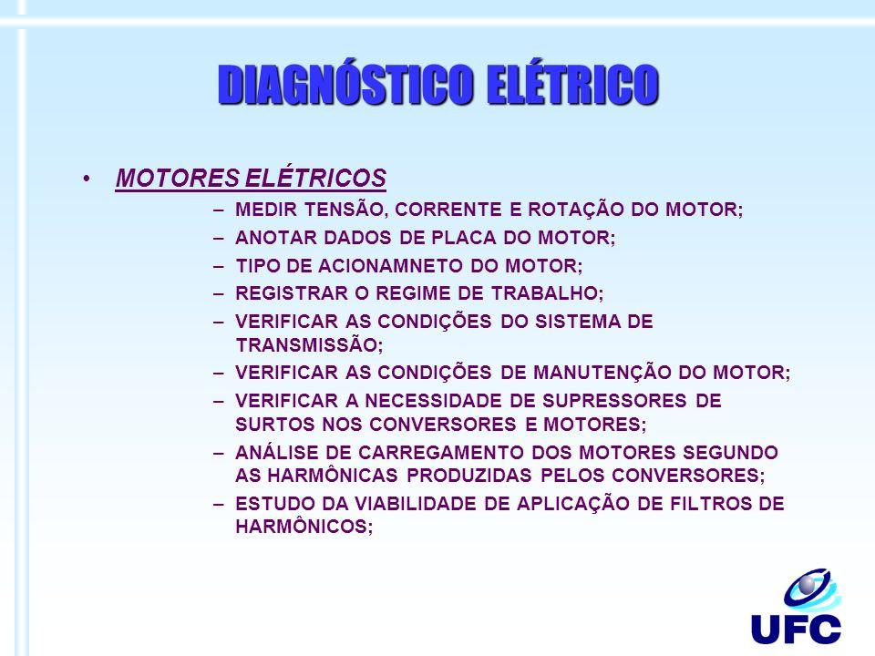 DIAGNÓSTICO ELÉTRICO MOTORES ELÉTRICOS