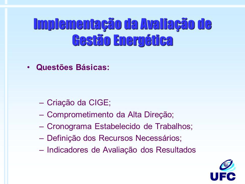 Implementação da Avaliação de Gestão Energética