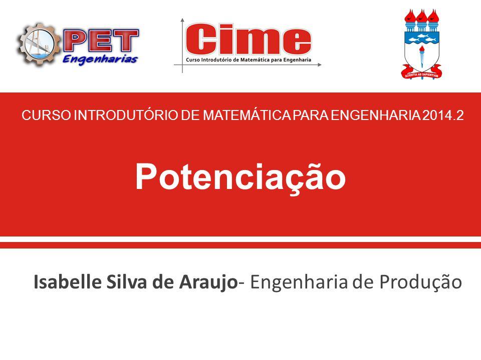 Isabelle Silva de Araujo- Engenharia de Produção