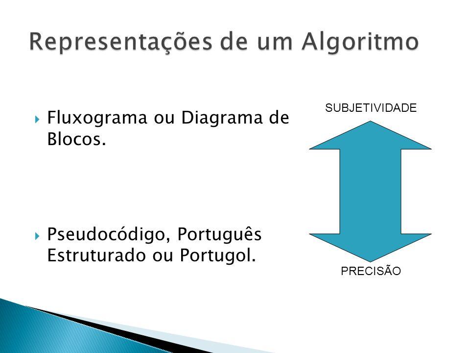 Representações de um Algoritmo