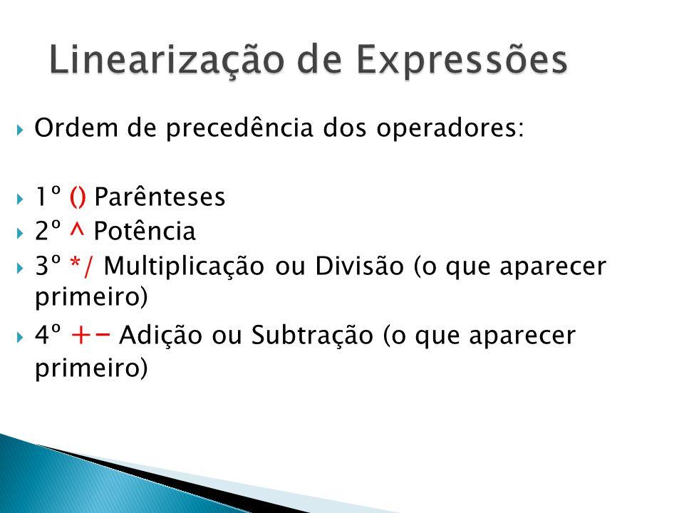 Linearização de Expressões