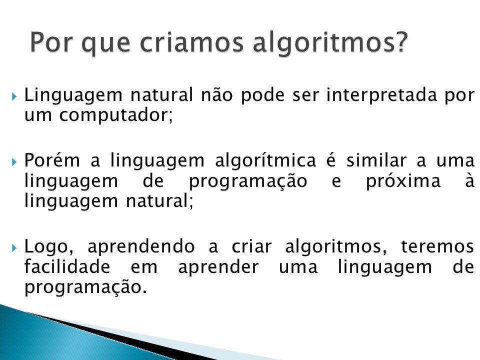 Por que criamos algoritmos