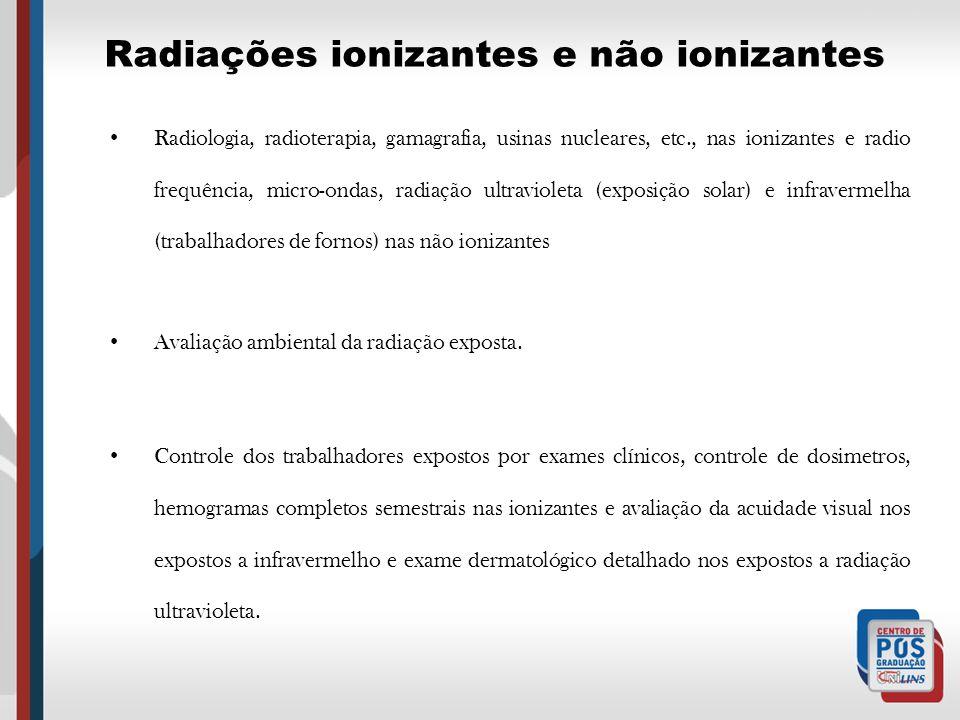 Radiações ionizantes e não ionizantes