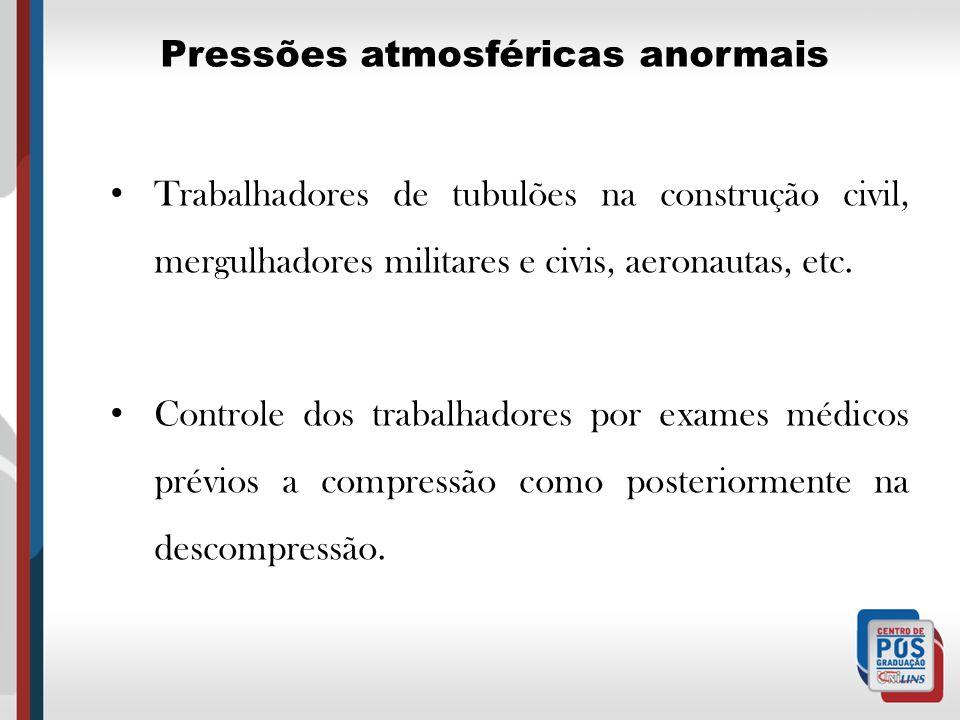 Pressões atmosféricas anormais