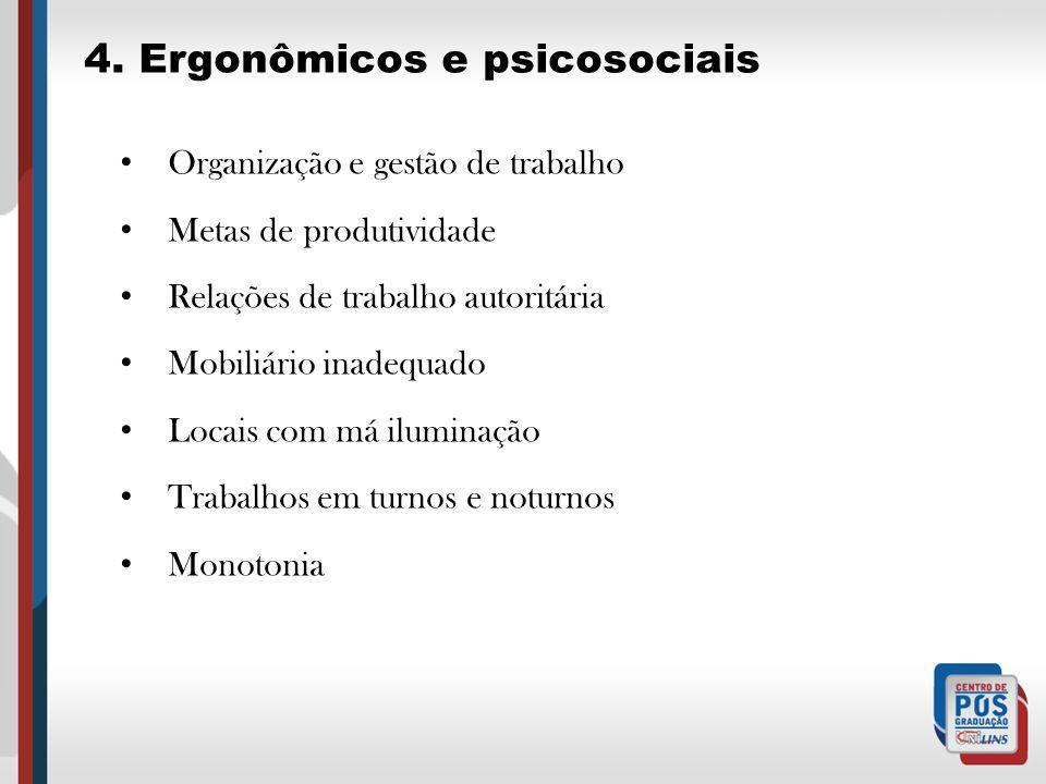 4. Ergonômicos e psicosociais