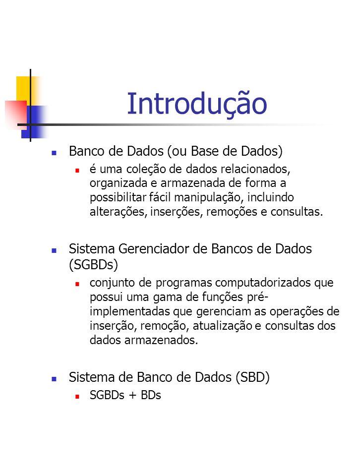 Introdução Banco de Dados (ou Base de Dados)