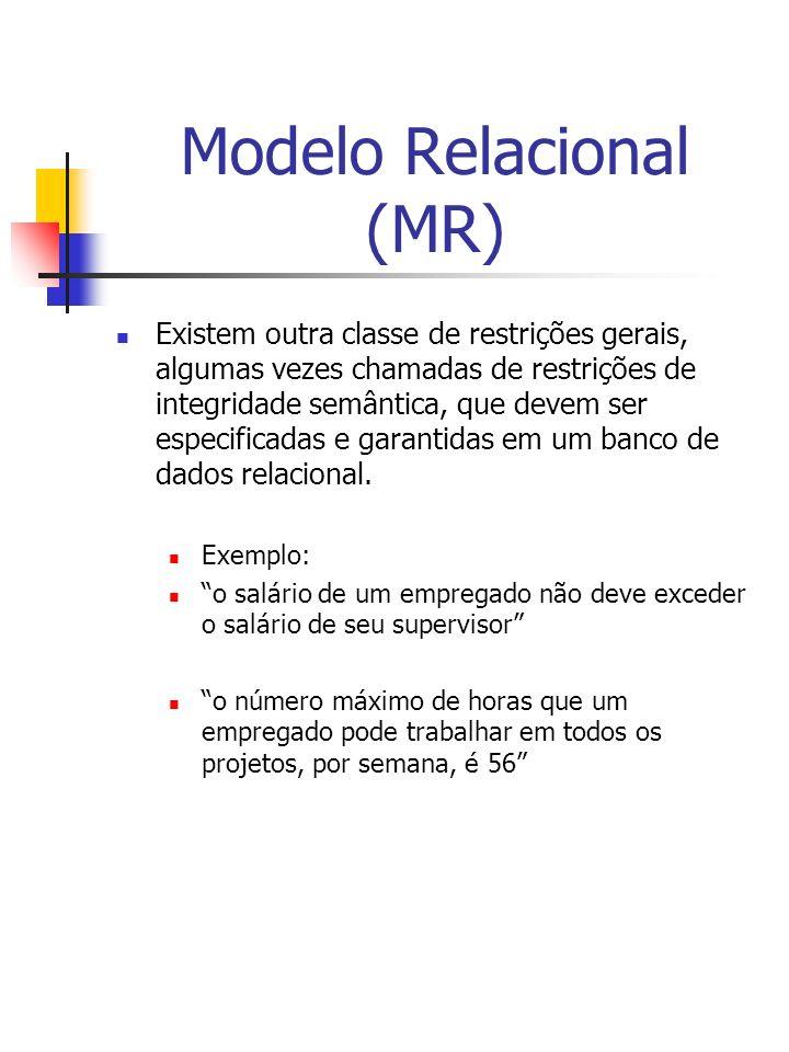 Modelo Relacional (MR)