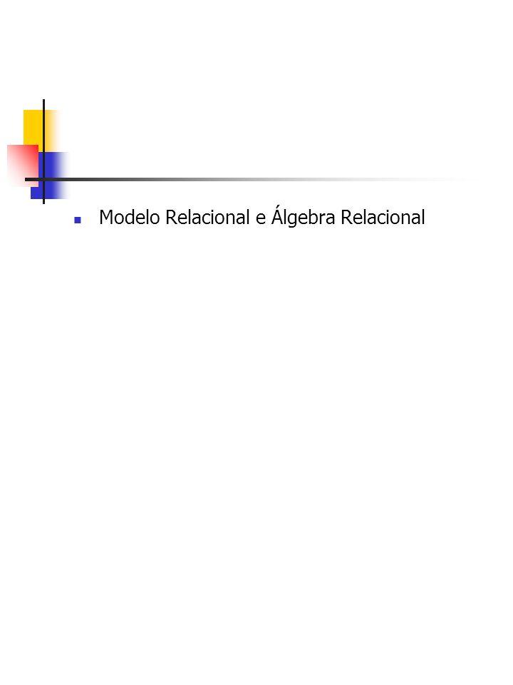 Modelo Relacional e Álgebra Relacional