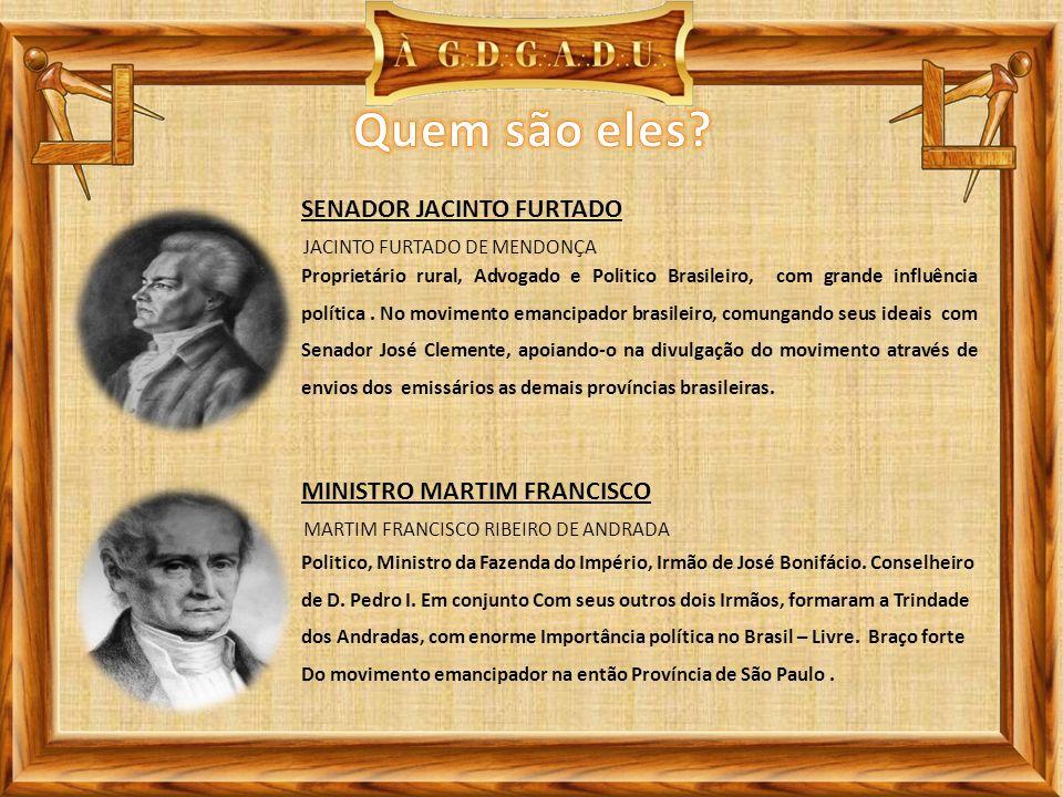 Quem são eles SENADOR JACINTO FURTADO MINISTRO MARTIM FRANCISCO