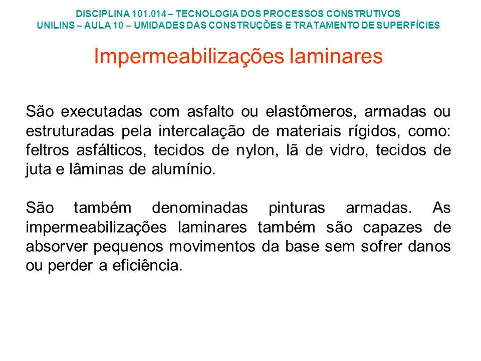 Impermeabilizações laminares