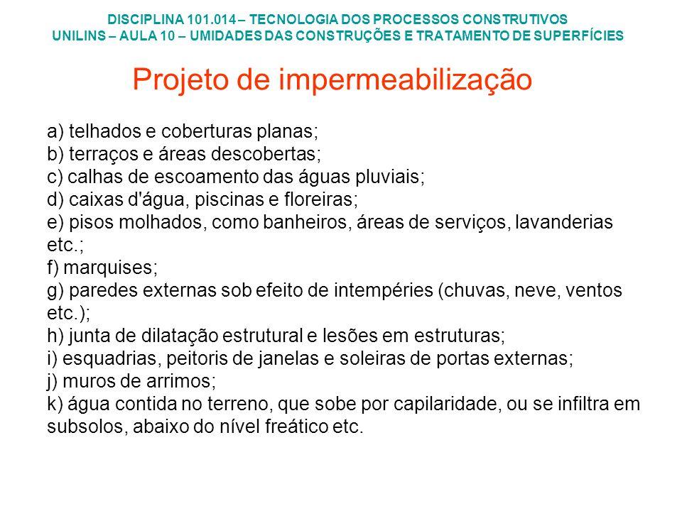 Projeto de impermeabilização