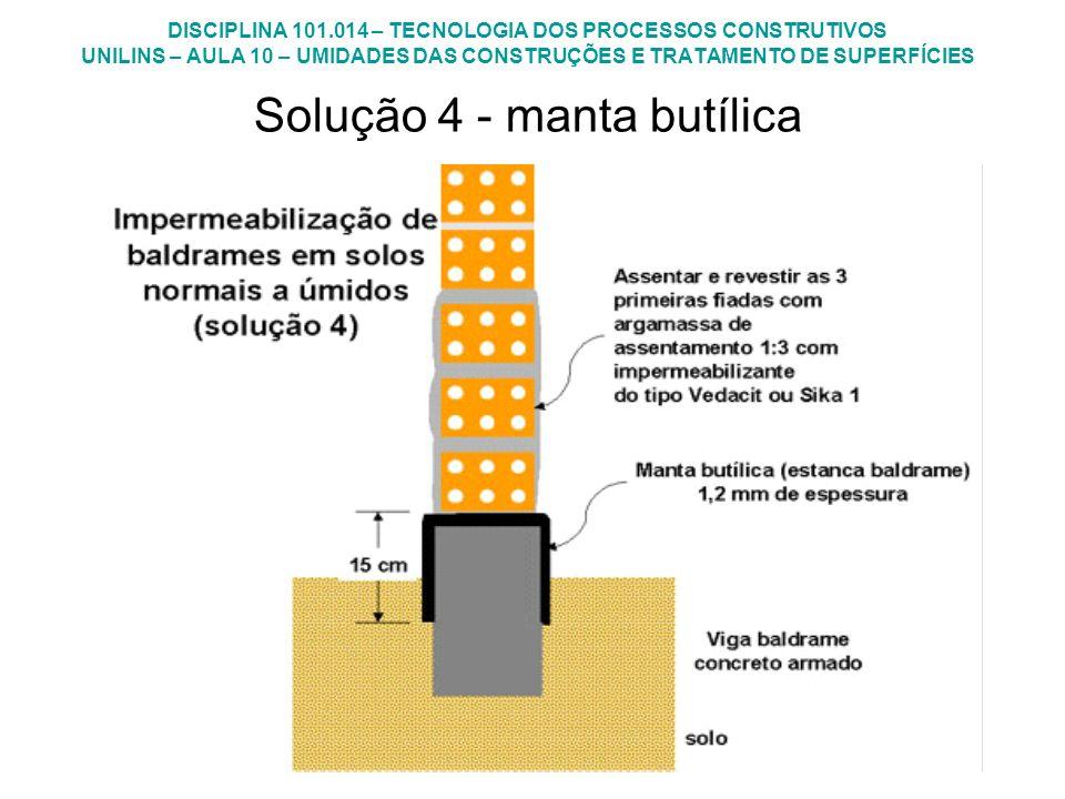 Solução 4 - manta butílica