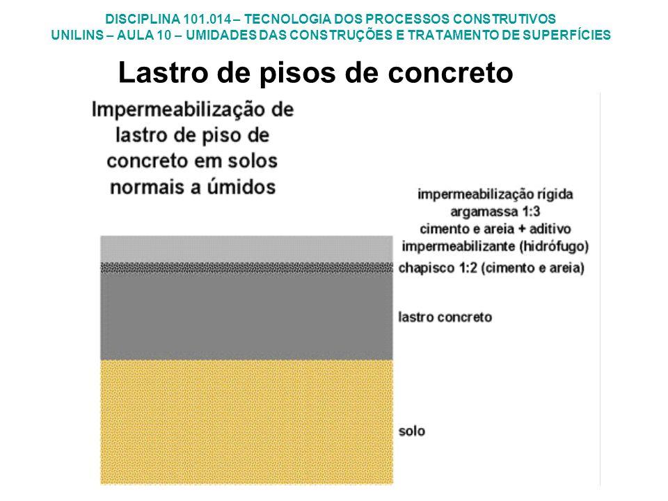 Lastro de pisos de concreto