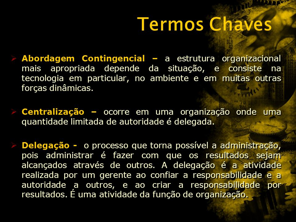 Termos Chaves