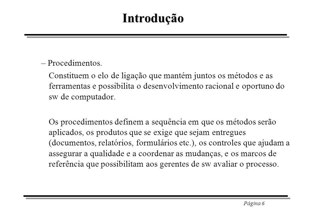 Introdução – Procedimentos.